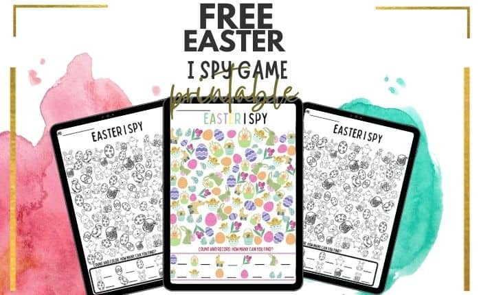 collection of free Easter I spy games printable for kids