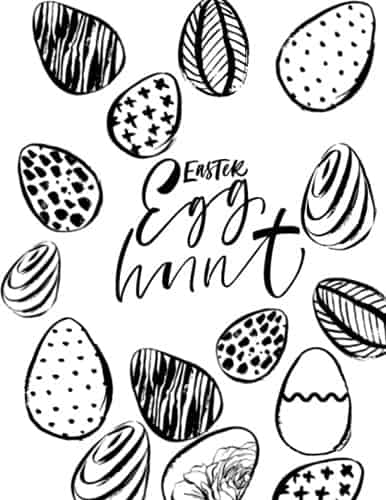 Easter hunt coloring page
