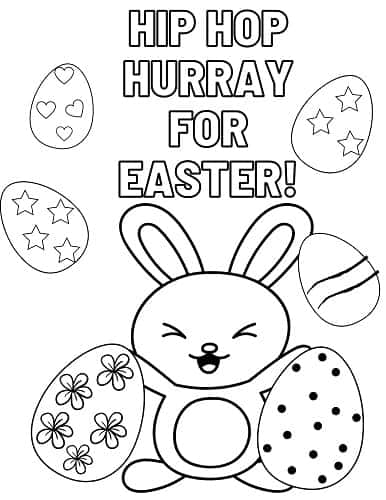 cute Easter bunny coloring sheet pdf full page