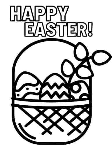 easter basket coloring page pdf