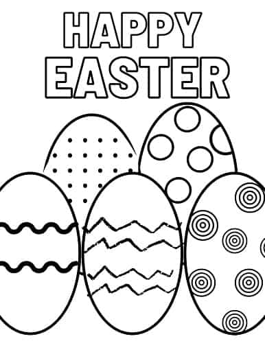 full page Easter egg coloring page pdf