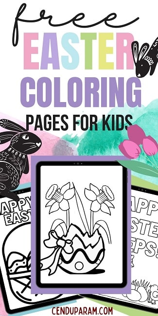 full size Easter coloring pages