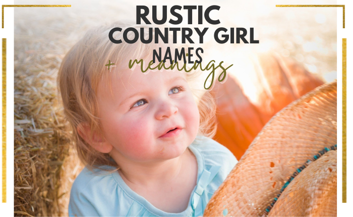 country baby girl holding cowboy hat