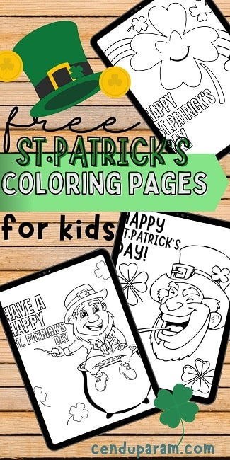 St.Patrick's day free printable coloring pages collage