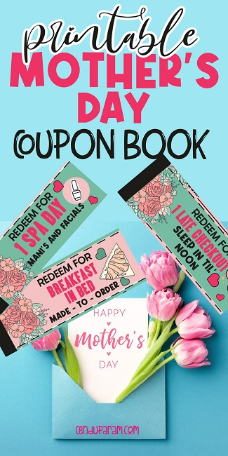 cute Mother's day coupons printable
