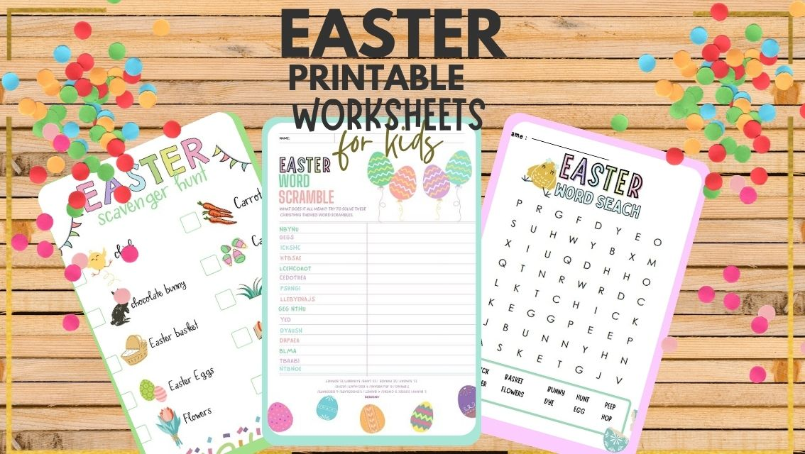 free Easter printable activities pdf for kids