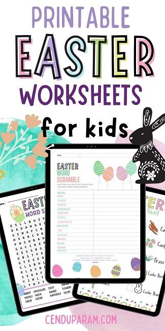 free Easter worksheets for kids printable