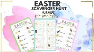 printable Easter Scavenger hunt riddles for kids