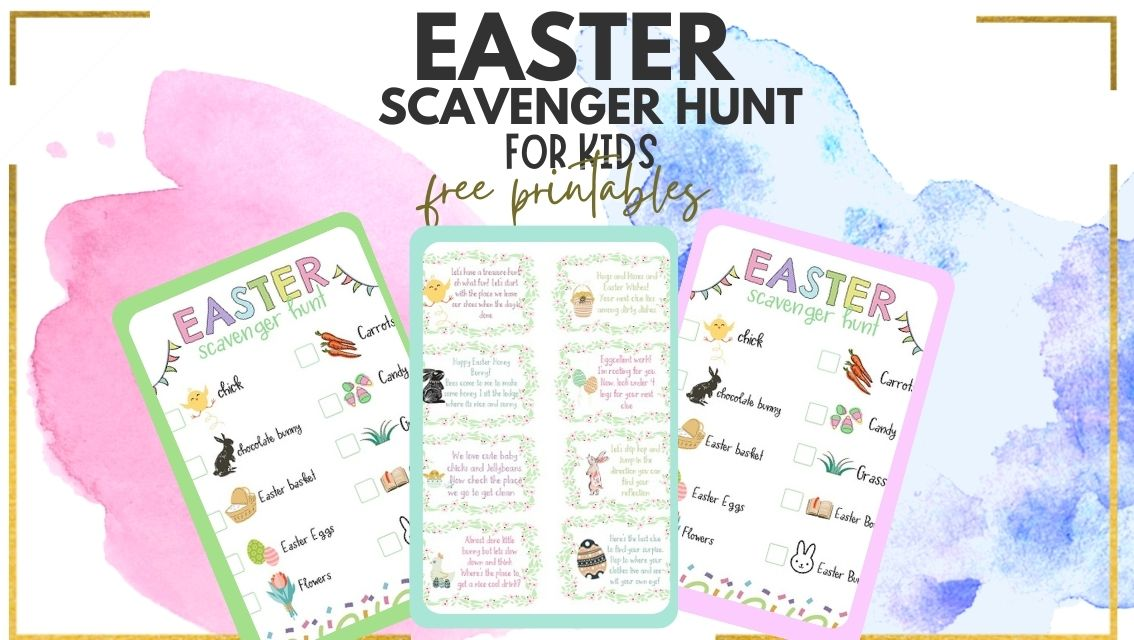 printable Easter Scavenger hunt riddles for kids