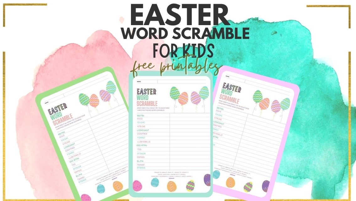 easter word scramble with answer key