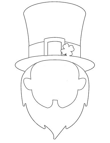 blank leprechaun face drawing template