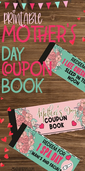 homemade Mother's day coupon book from child