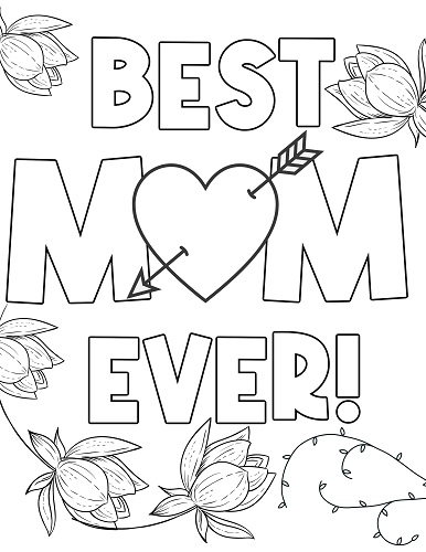 best mom ever coloring page mother's day