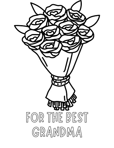 mother's day coloring pages for grandmother