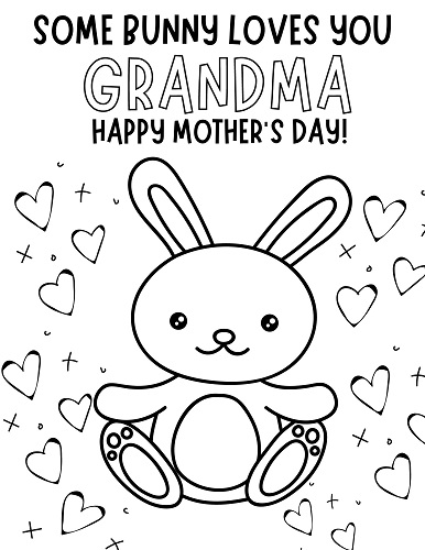 grandmother mothers day coloring pages free printable