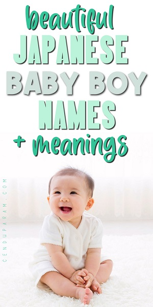 smiling Japanese baby boy with title cute Japanese boy names a-z