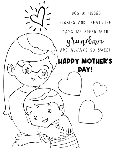 free printable Mothers Day coloring pages for grandma