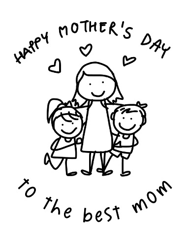 mother's day preschool coloring pages