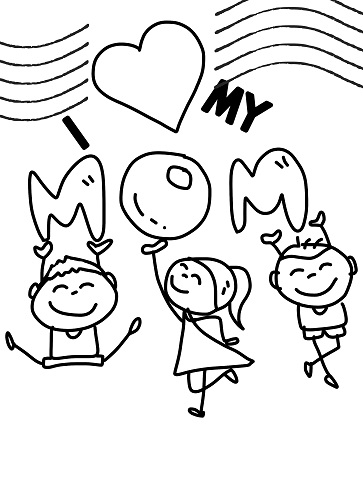 mothers day coloring page free printable