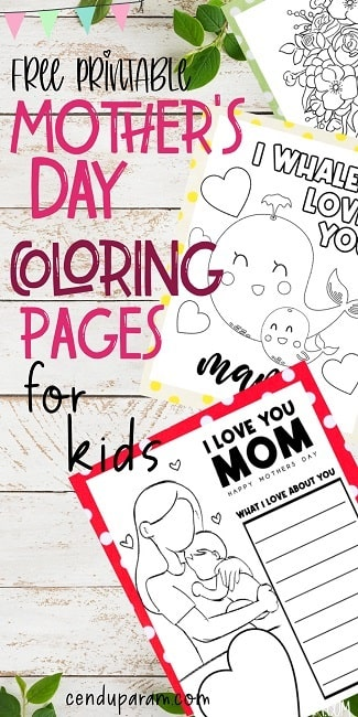 mother's day coloring pages printable