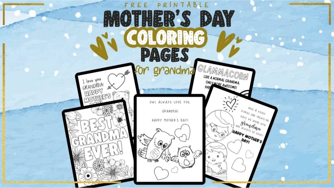 grandma mother's day coloring pages free