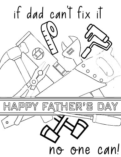 fathers day dad tools coloring pages pdf