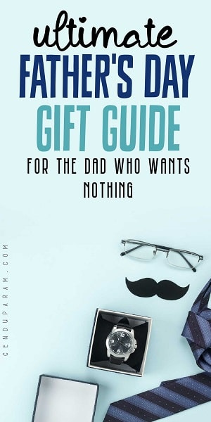 flat lay of gifts for dad