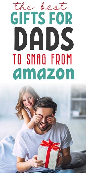 child giving gift to dad