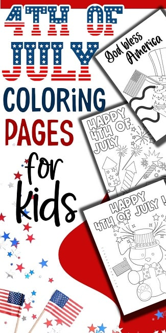 coloring book pages for 4th of July