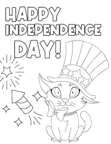 cute 4th of July coloring pages for toddlers