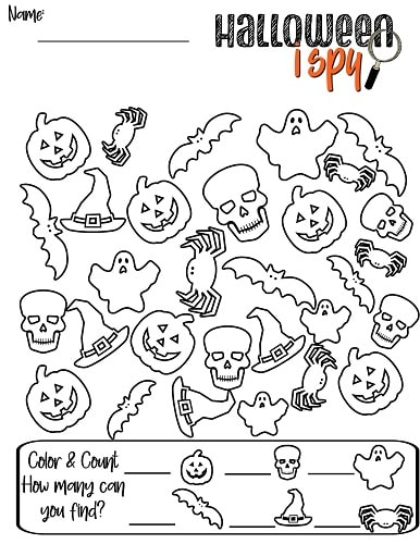 easy Halloween i spy pdf printable