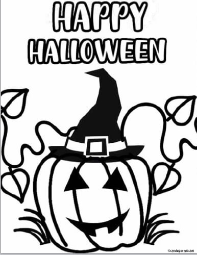 cute Halloween coloring pages for toddlers