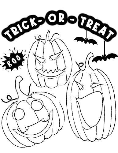 Halloween Jack O'Lanterns  coloring page