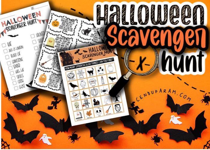 How to set up a Halloween Scavenger Hunt