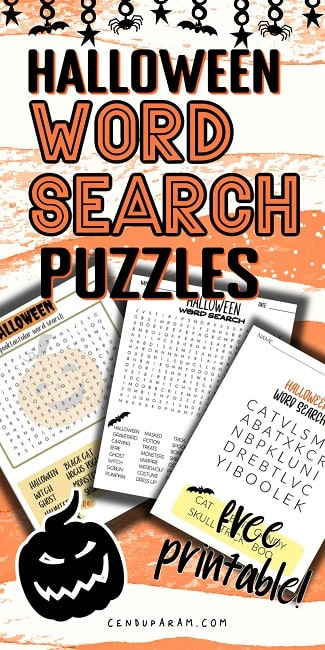 elementary Halloween word search