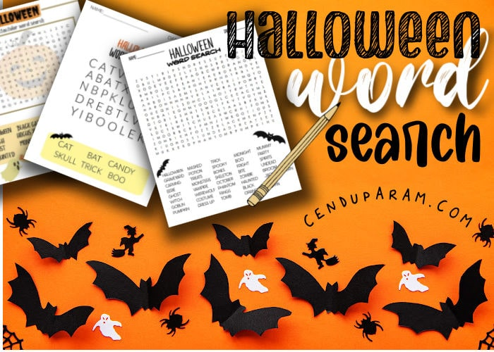 Halloween word search puzzles free